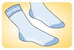 Etiketsiz Baskı Çorap
